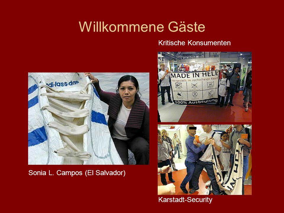 Willkommene Gäste Kritische Konsumenten Sonia L. Campos (El Salvador)