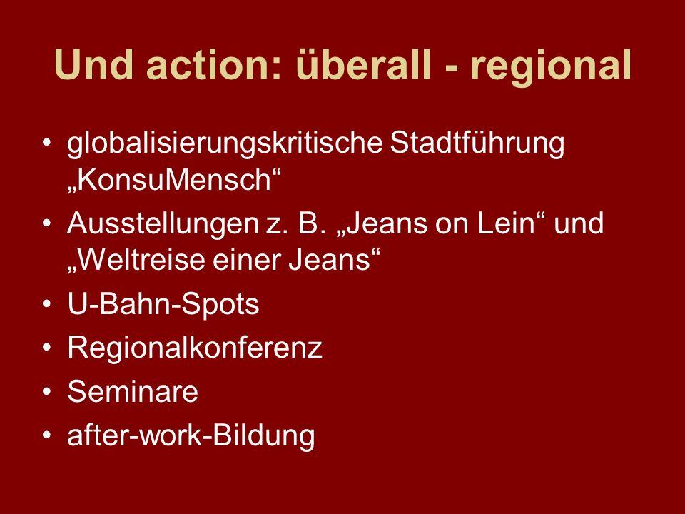 Und action: überall - regional