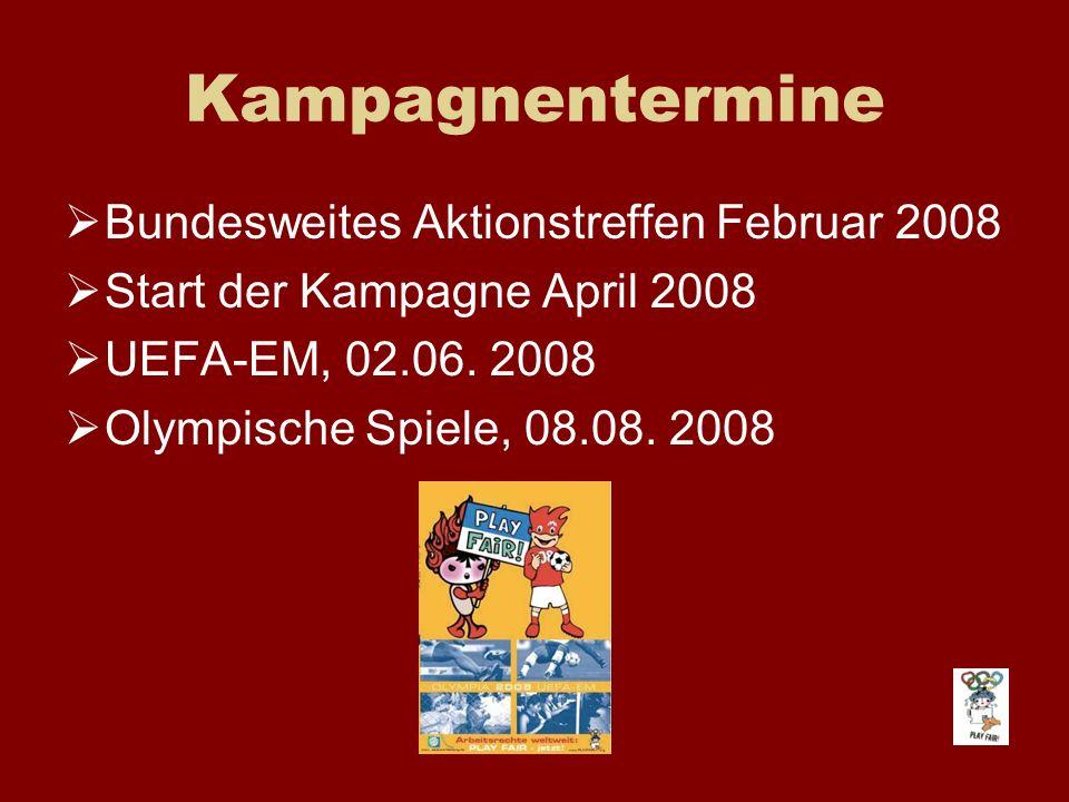 Kampagnentermine Bundesweites Aktionstreffen Februar 2008