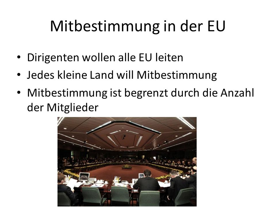 Mitbestimmung in der EU
