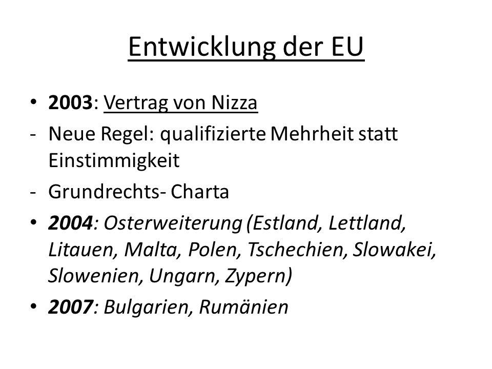 Entwicklung der EU 2003: Vertrag von Nizza