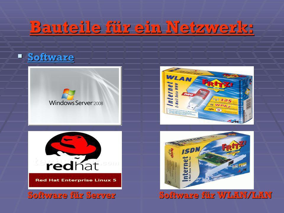 Bauteile für ein Netzwerk: