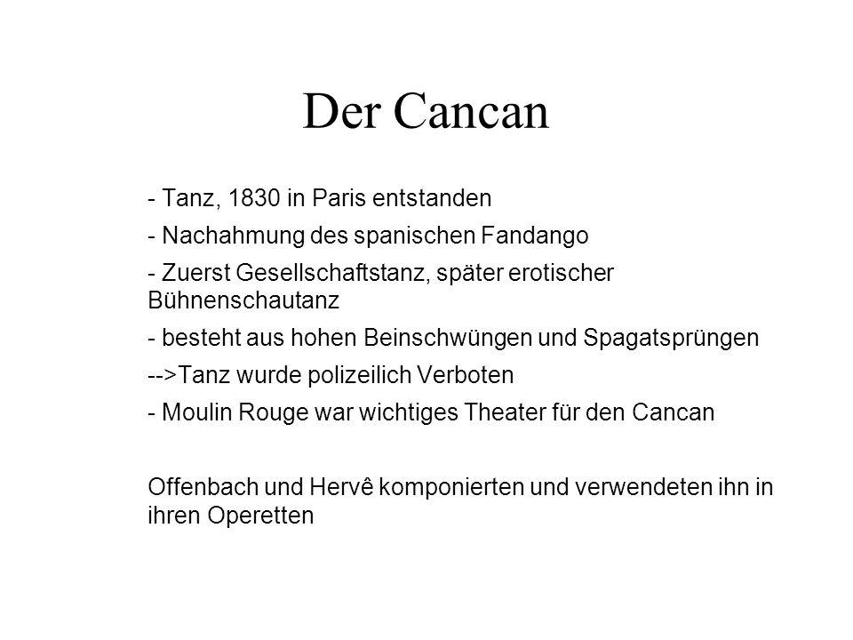 Der Cancan - Tanz, 1830 in Paris entstanden