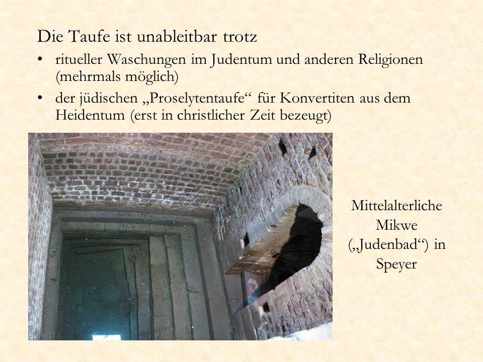 """Mittelalterliche Mikwe (""""Judenbad ) in Speyer"""