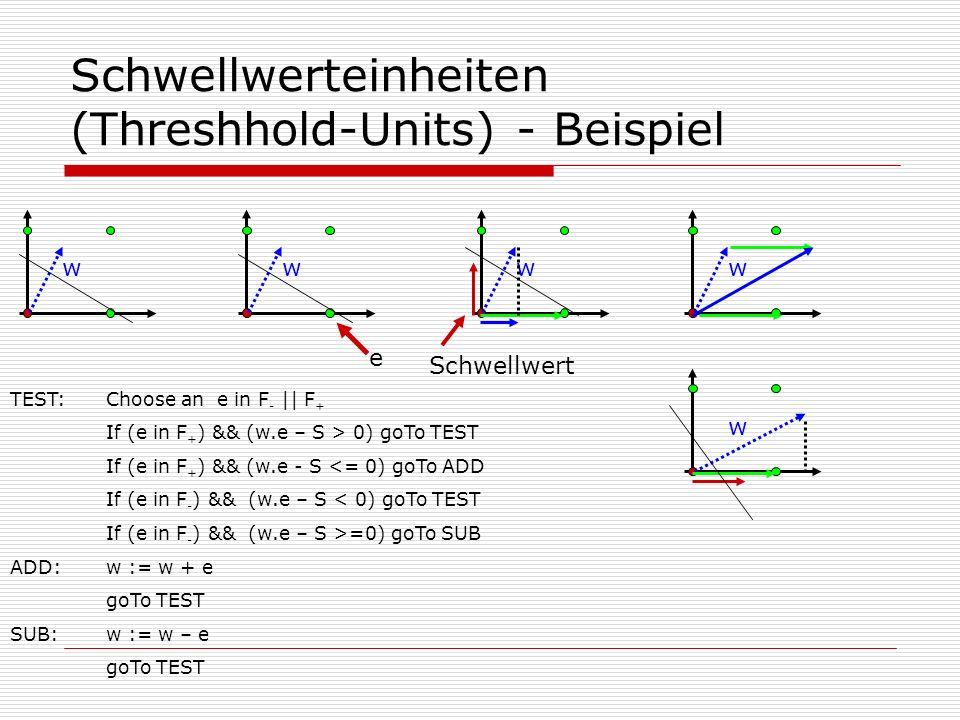 Schwellwerteinheiten (Threshhold-Units) - Beispiel