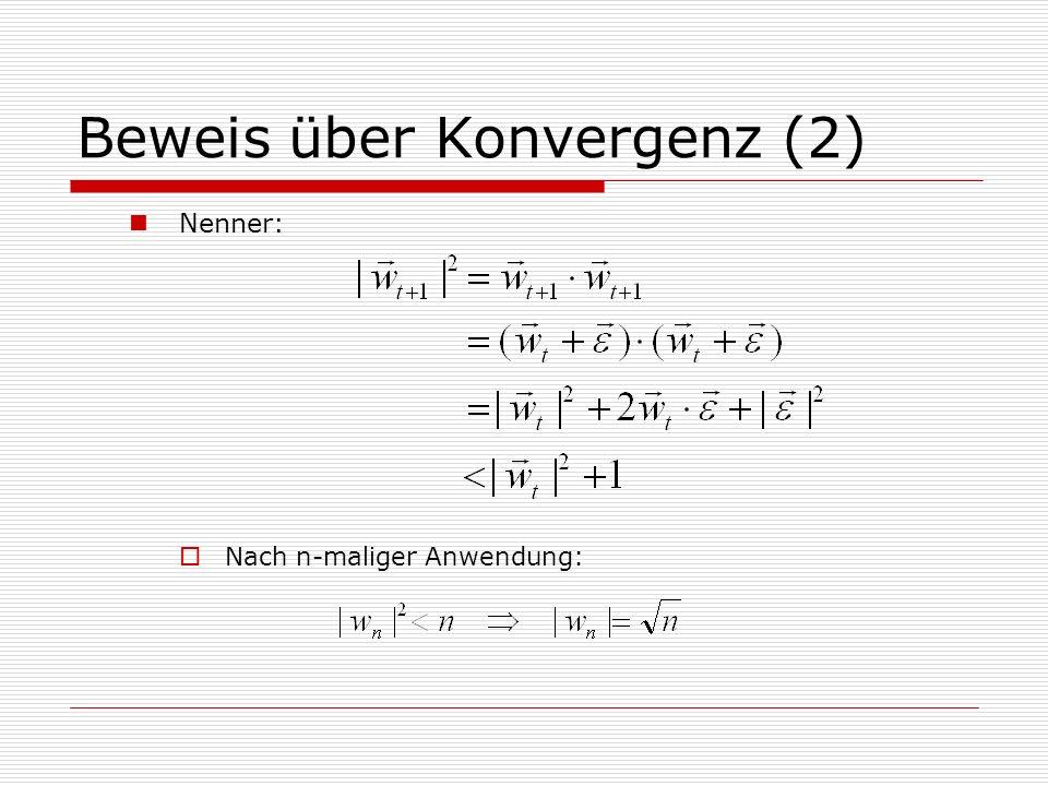 Beweis über Konvergenz (2)