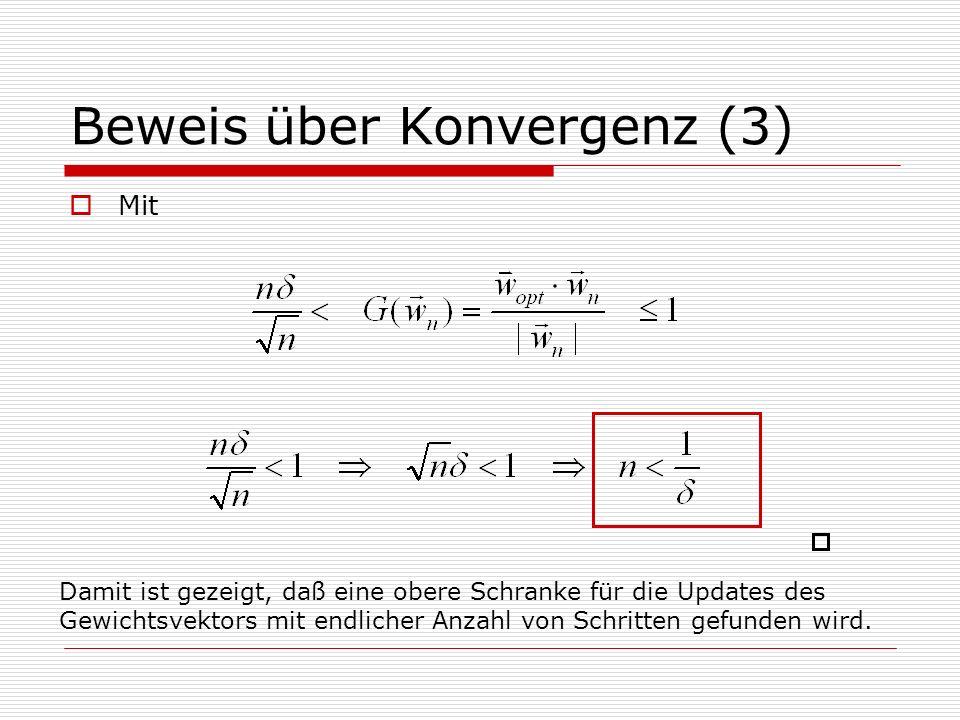 Beweis über Konvergenz (3)