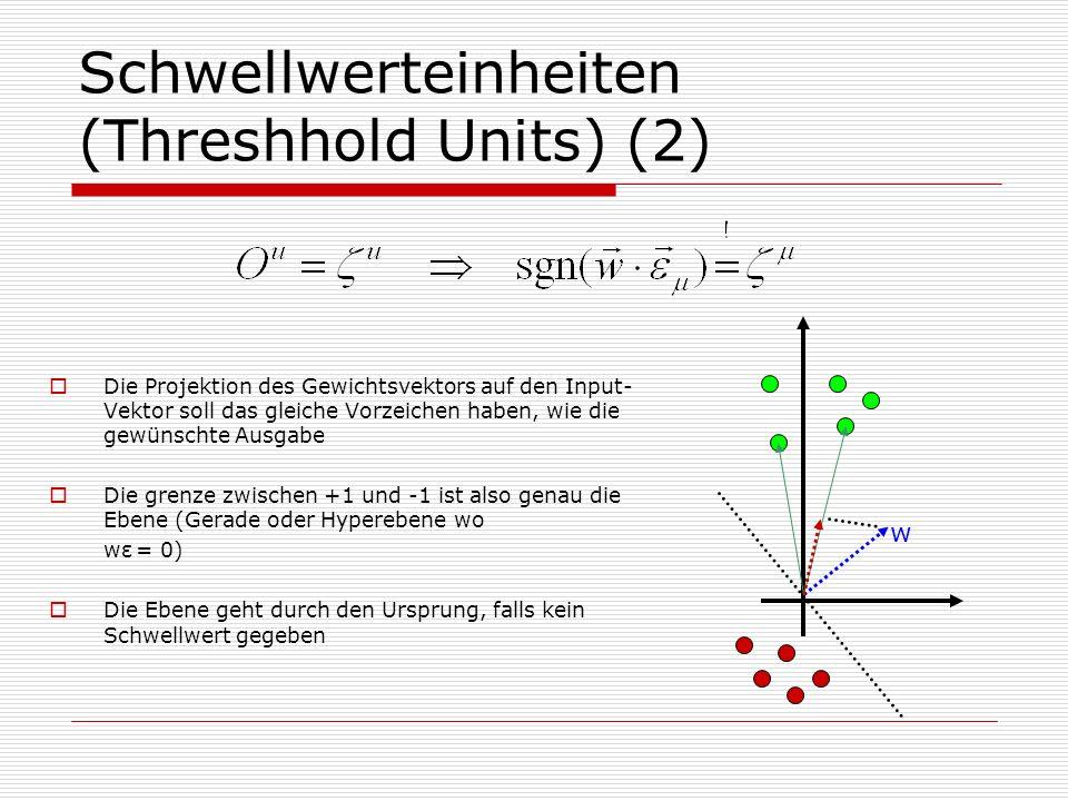 Schwellwerteinheiten (Threshhold Units) (2)