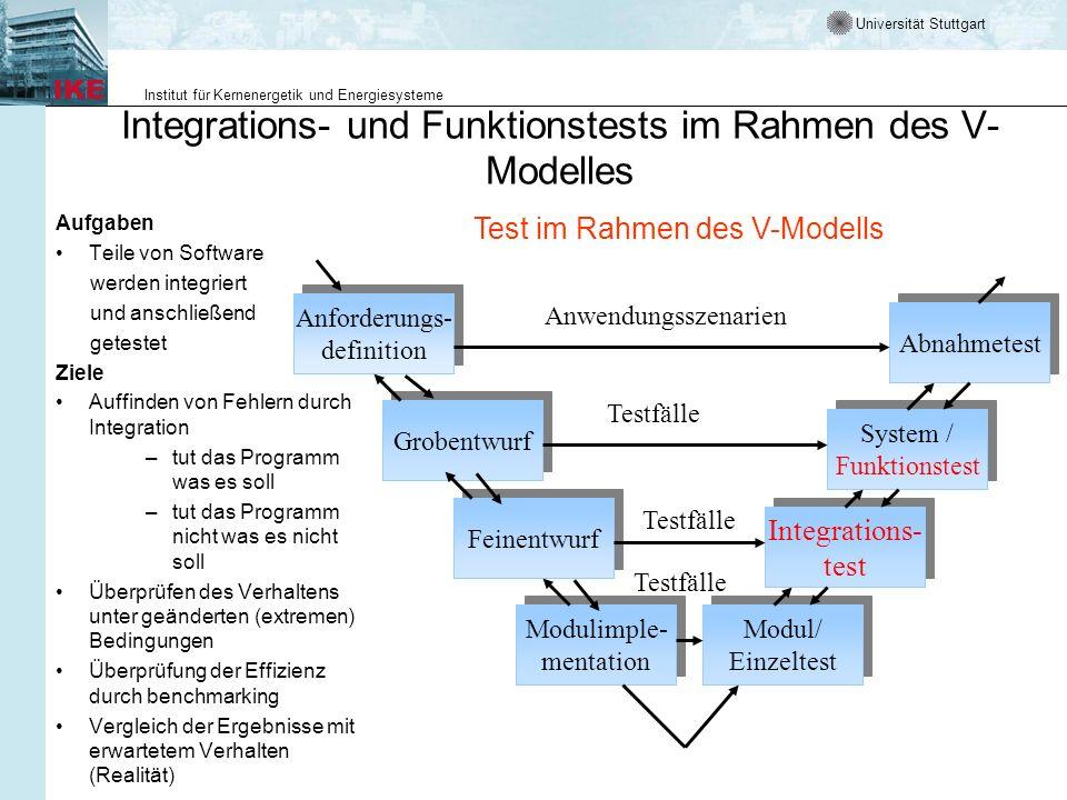 Integrations- und Funktionstests im Rahmen des V-Modelles