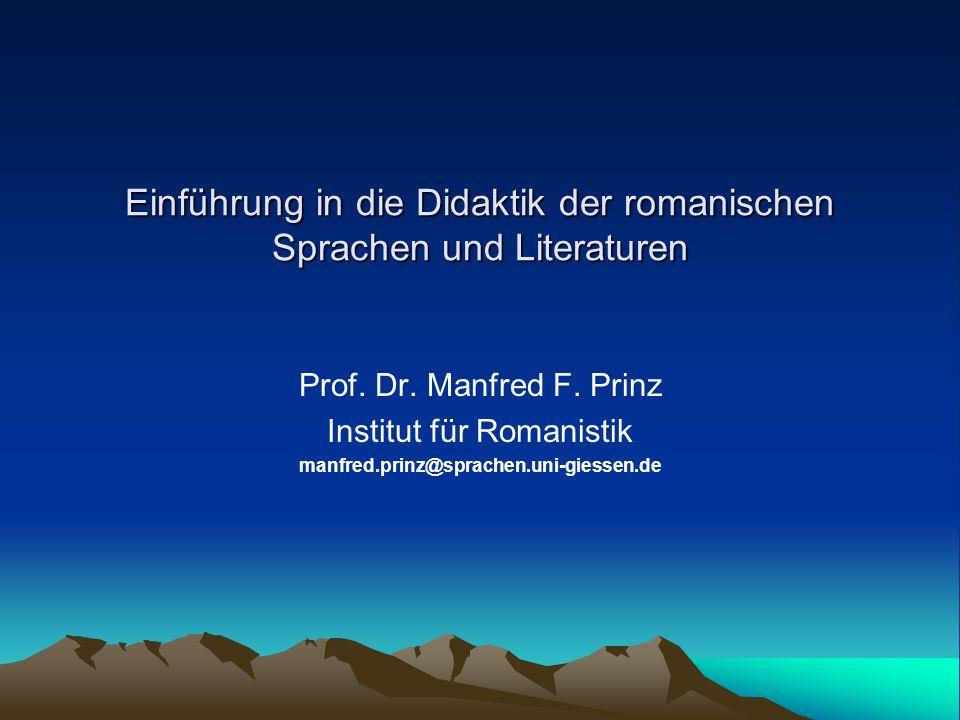 Einführung in die Didaktik der romanischen Sprachen und Literaturen