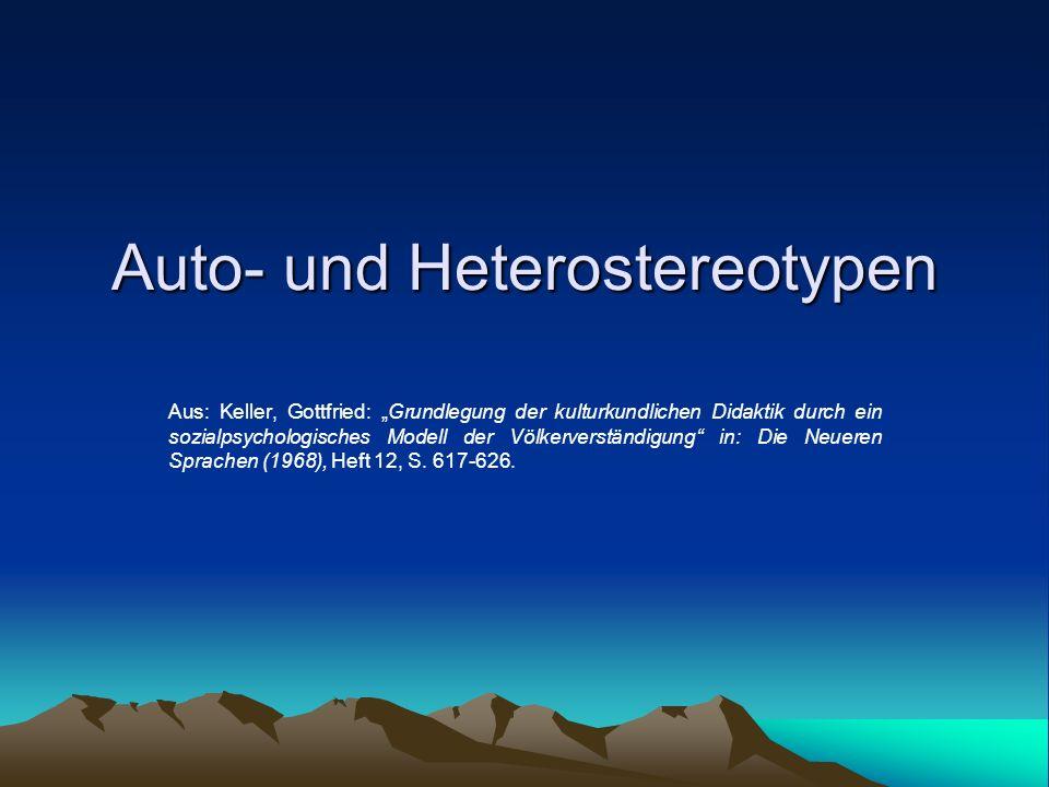 Auto- und Heterostereotypen