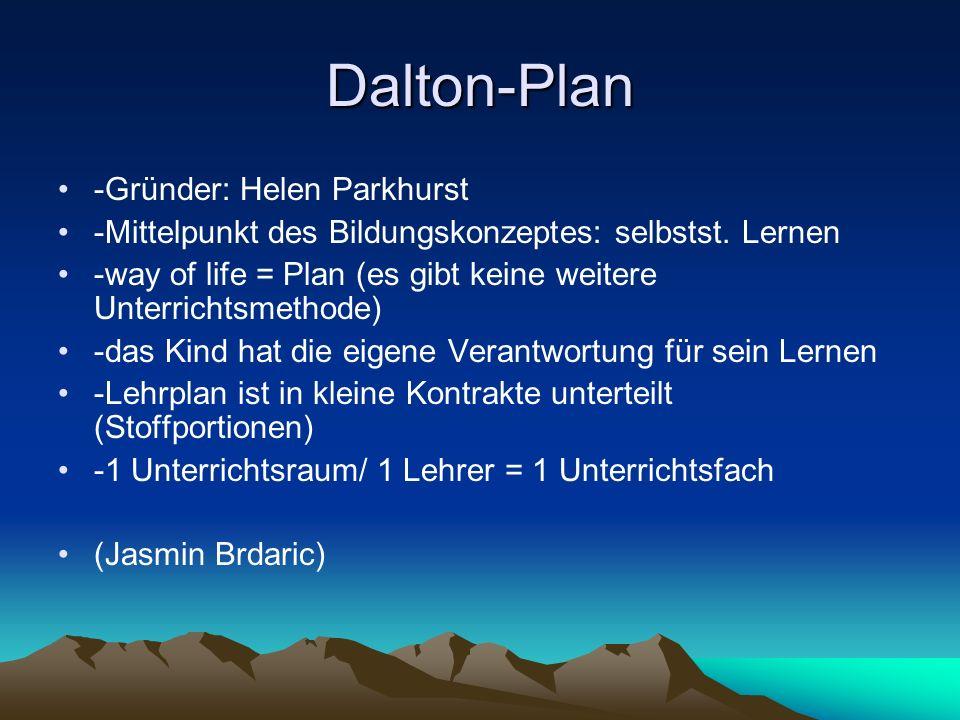 Dalton-Plan -Gründer: Helen Parkhurst