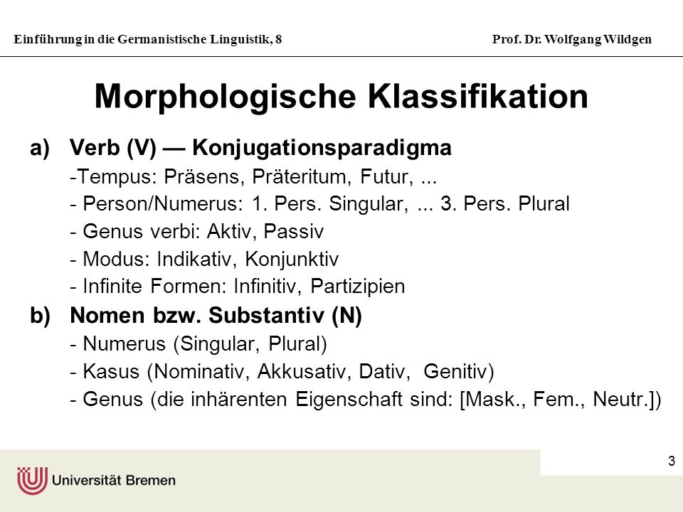 Morphologische Klassifikation