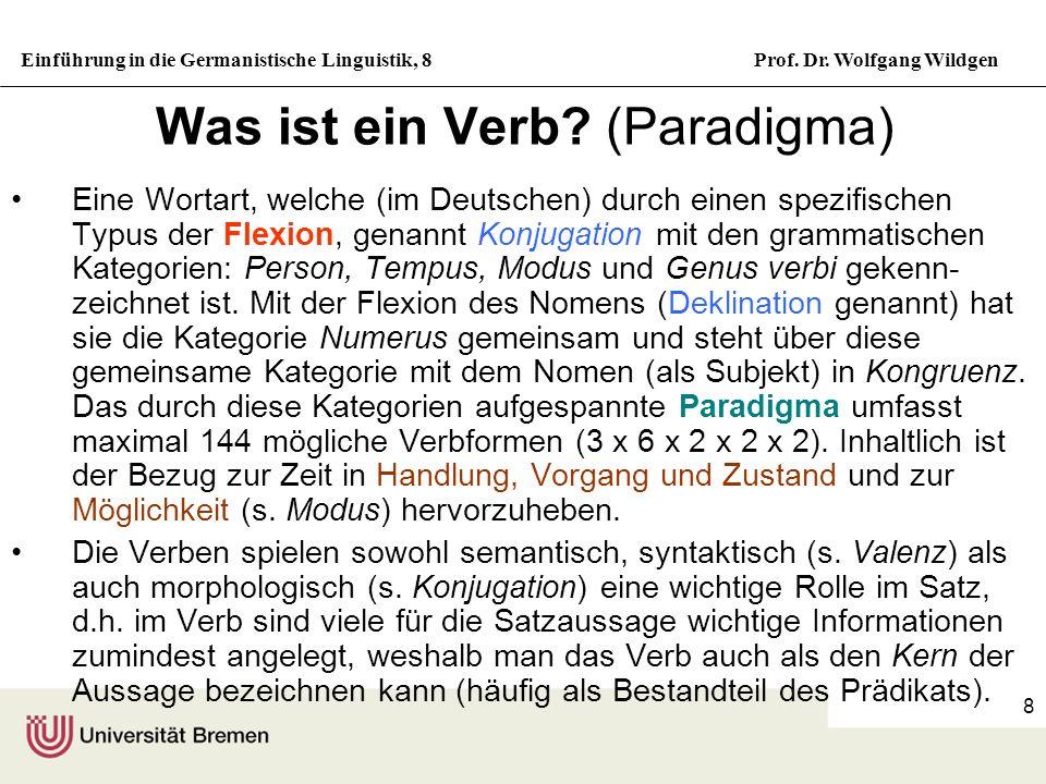 Was ist ein Verb (Paradigma)