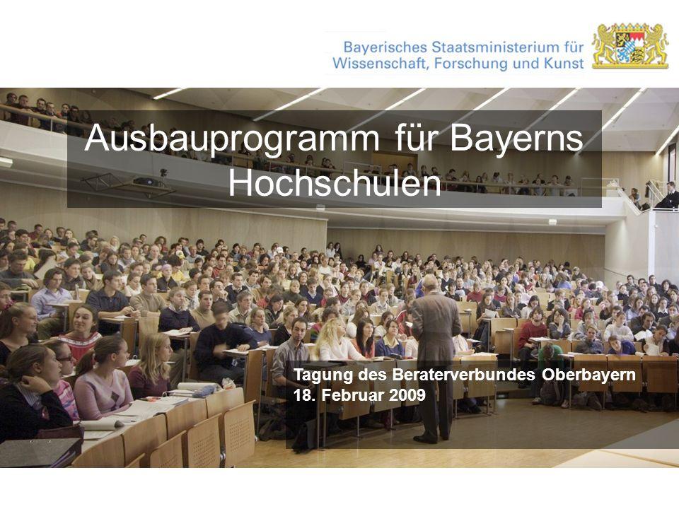 Ausbauprogramm für Bayerns Hochschulen