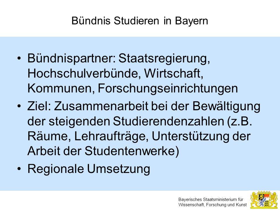 Bündnis Studieren in Bayern