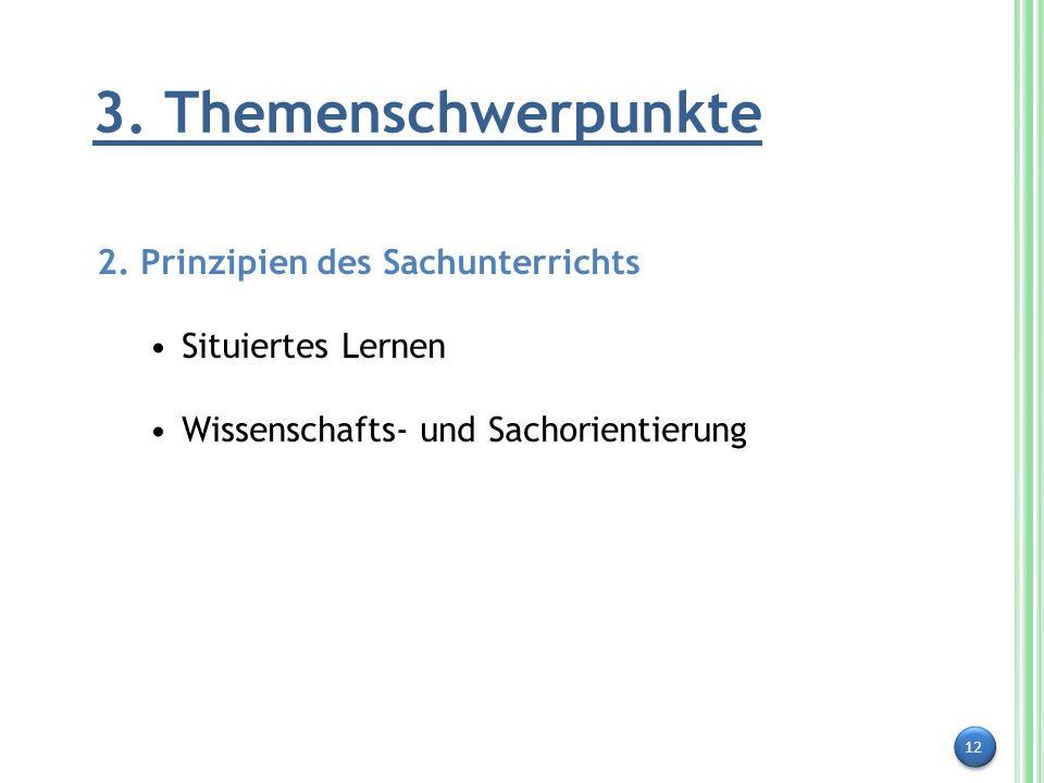3. Themenschwerpunkte 2. Prinzipien des Sachunterrichts