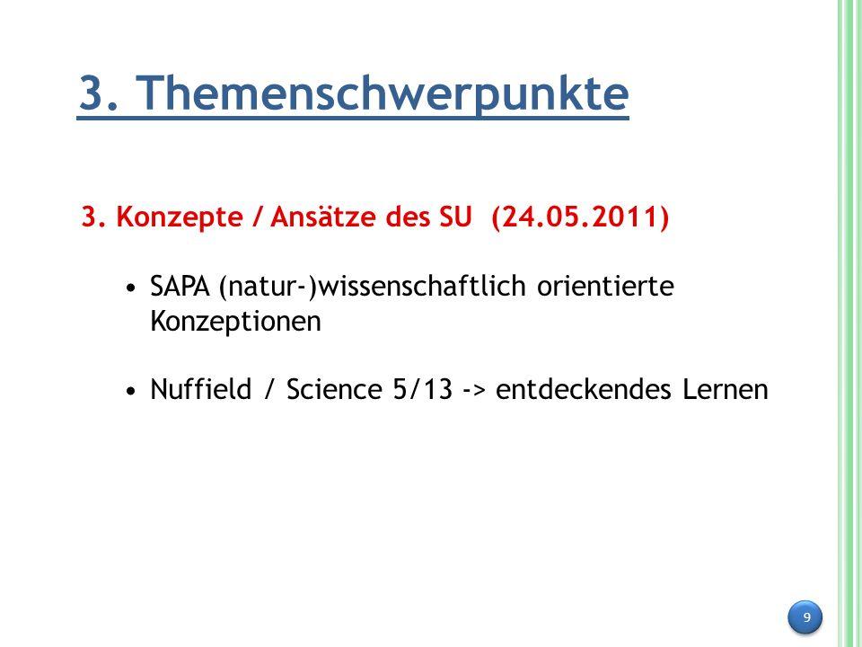 3. Themenschwerpunkte 3. Konzepte / Ansätze des SU (24.05.2011)
