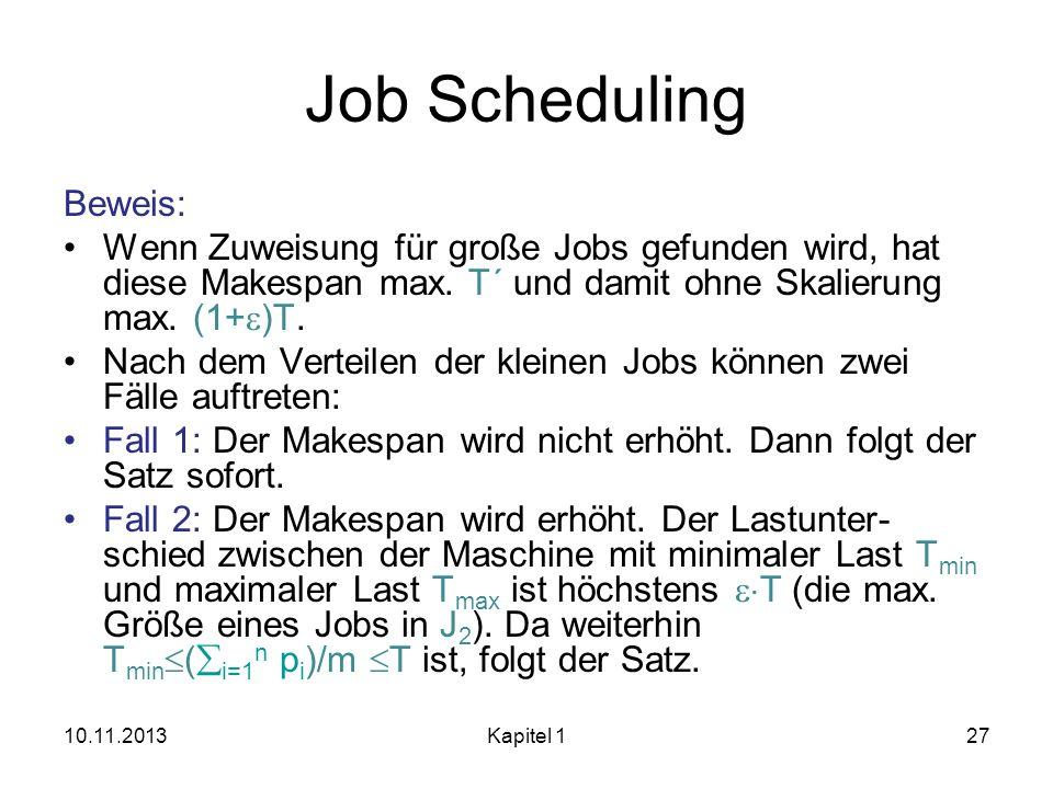 Job Scheduling Beweis:
