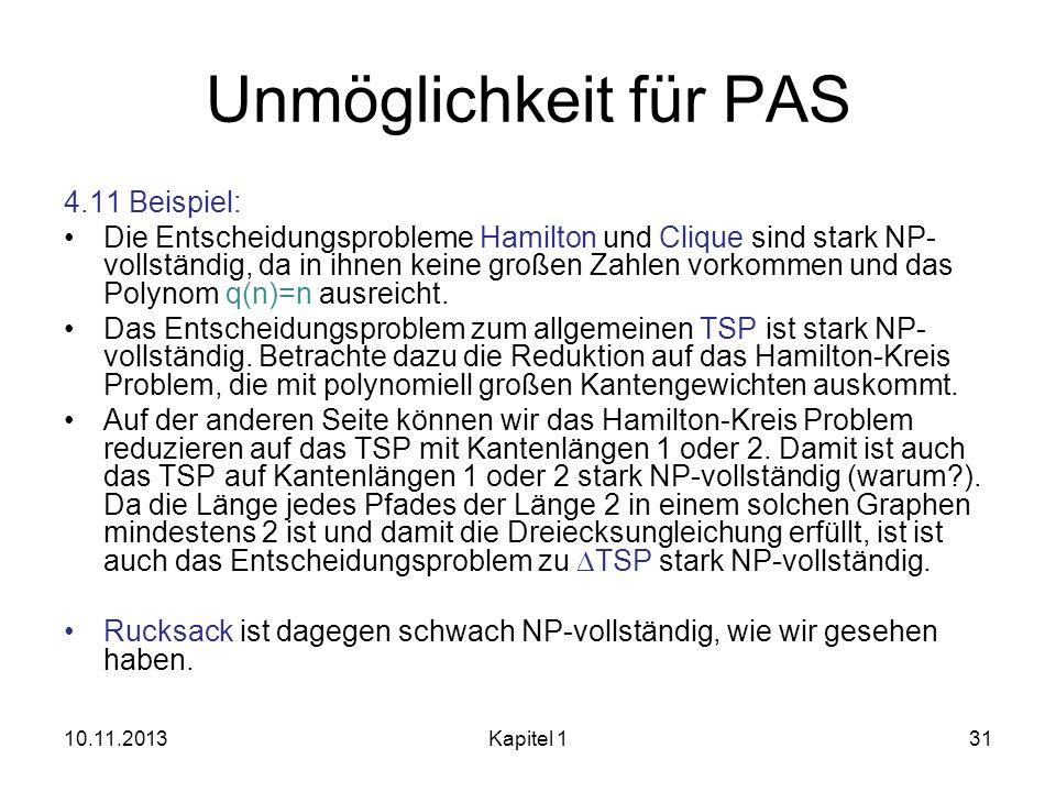 Unmöglichkeit für PAS 4.11 Beispiel: