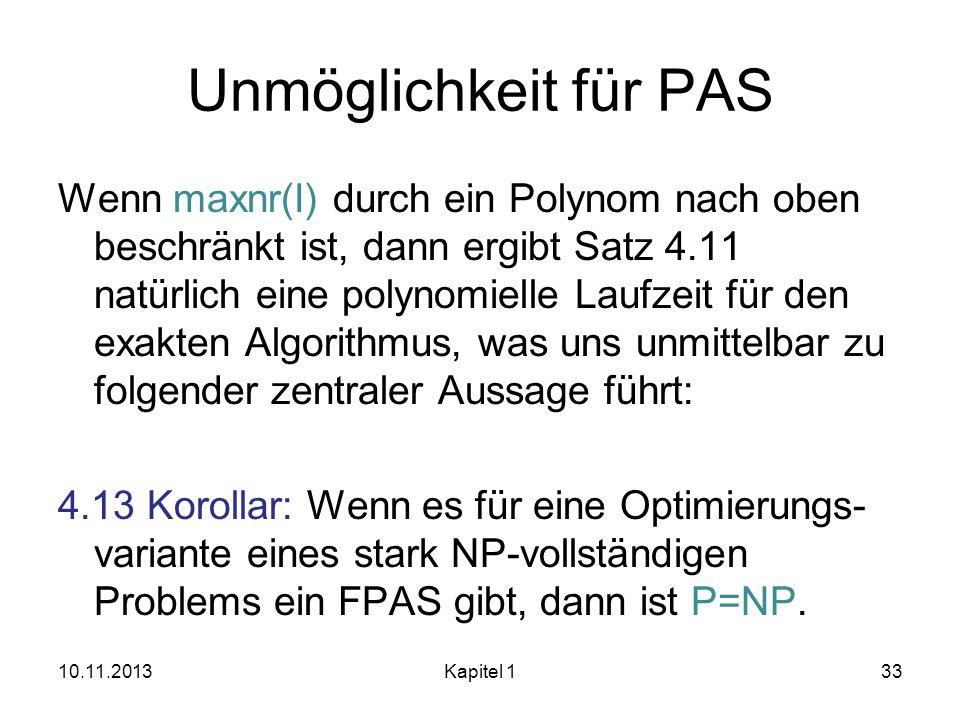 Unmöglichkeit für PAS