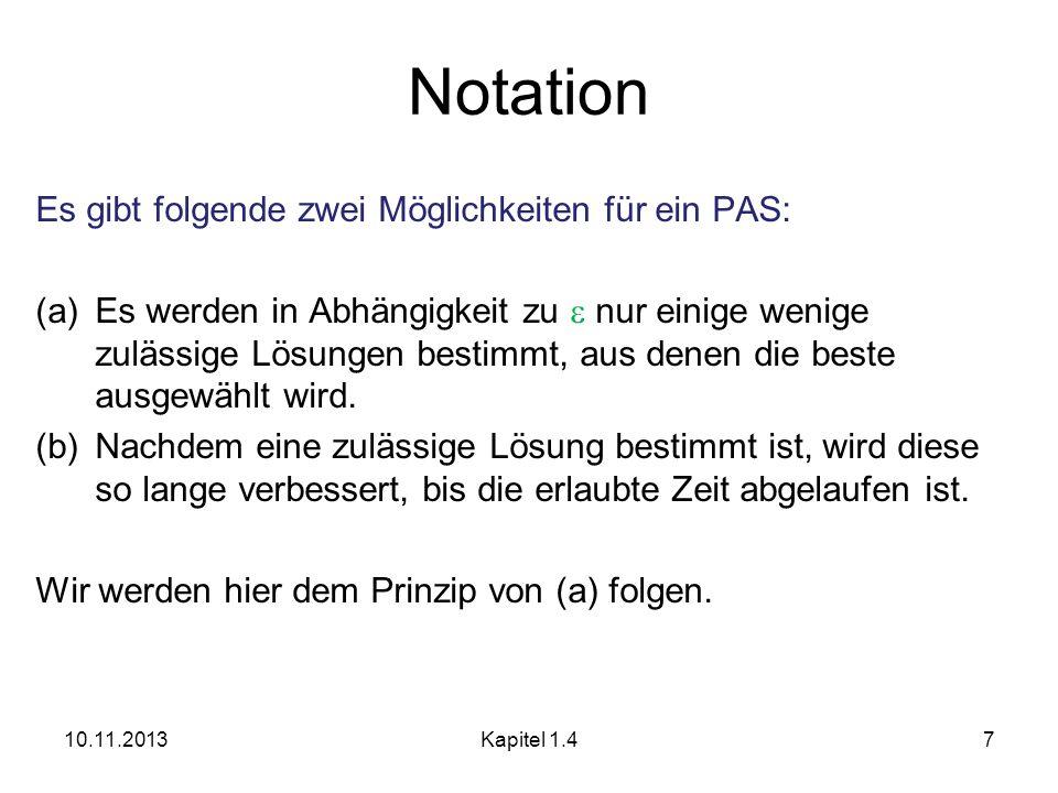 Notation Es gibt folgende zwei Möglichkeiten für ein PAS: