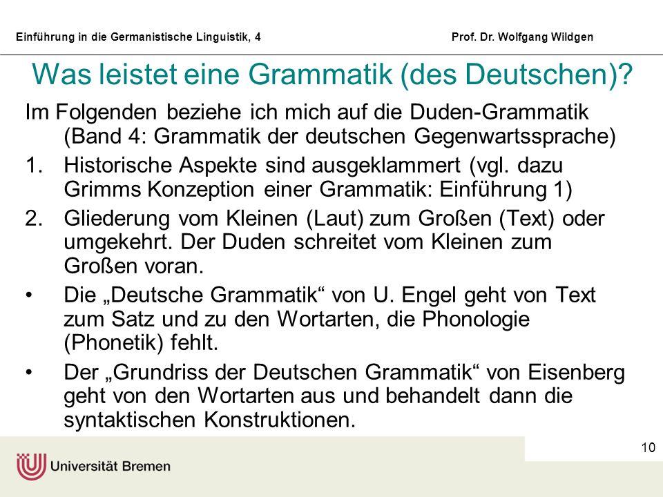 Was leistet eine Grammatik (des Deutschen)