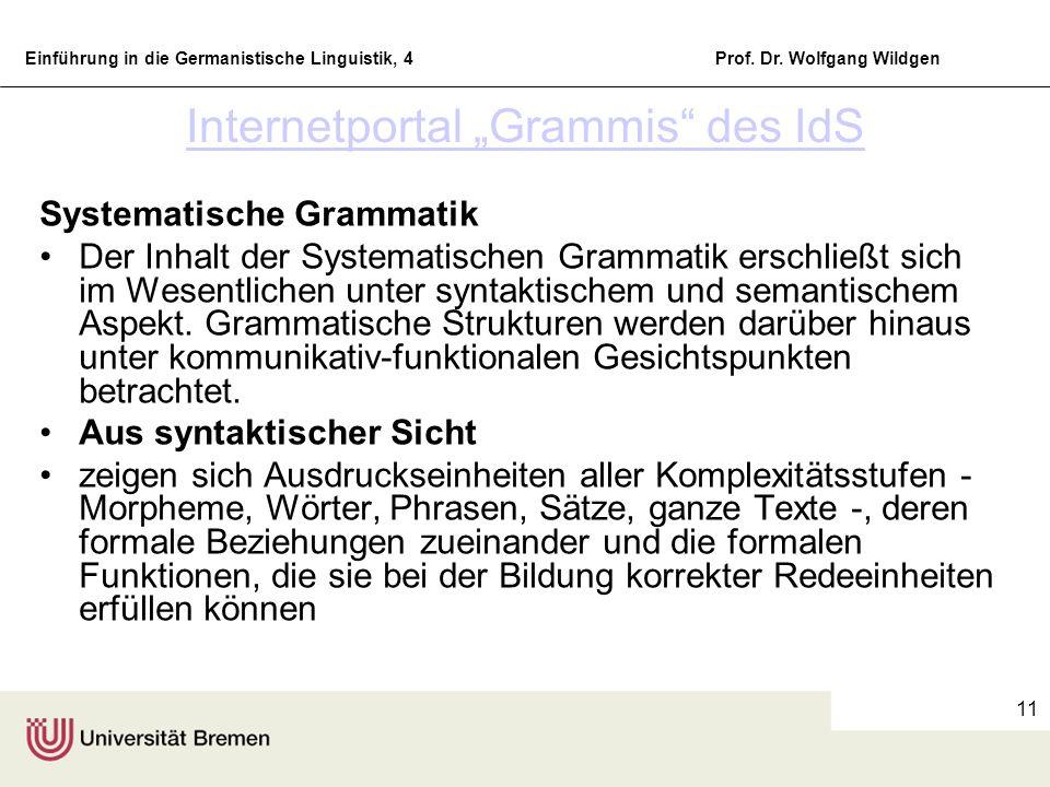 "Internetportal ""Grammis des IdS"