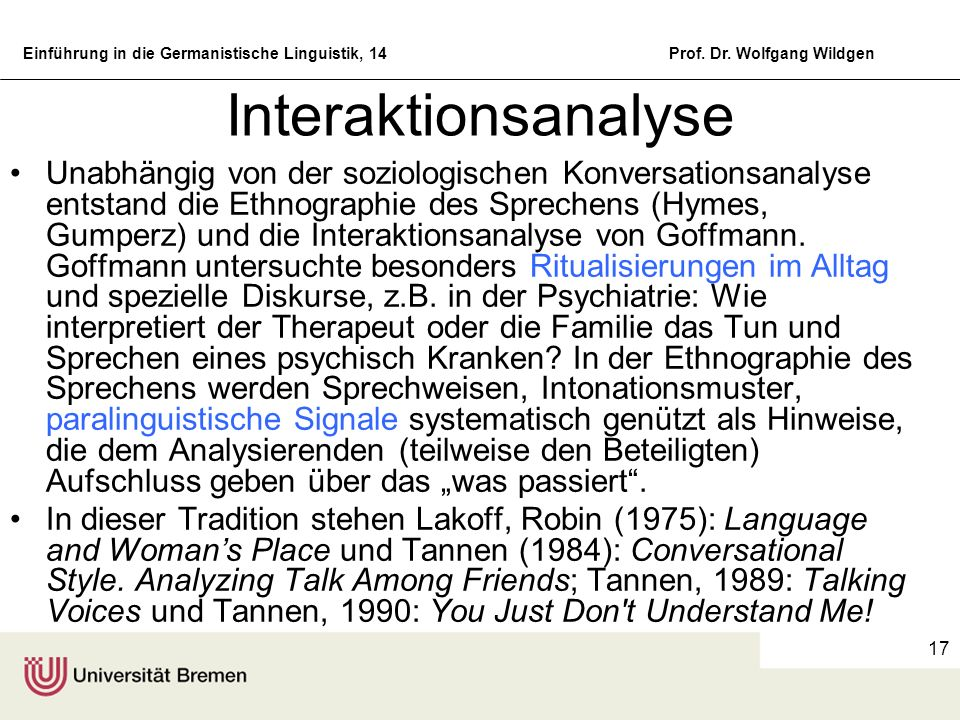 Interaktionsanalyse