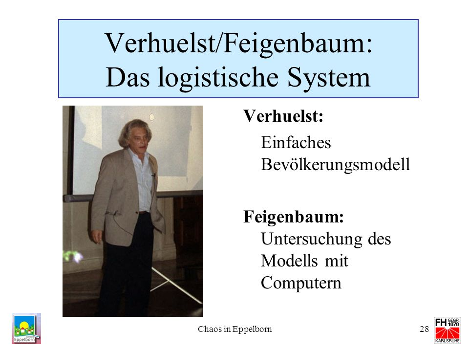 Verhuelst/Feigenbaum: Das logistische System