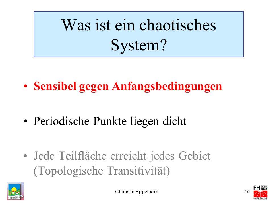 Was ist ein chaotisches System