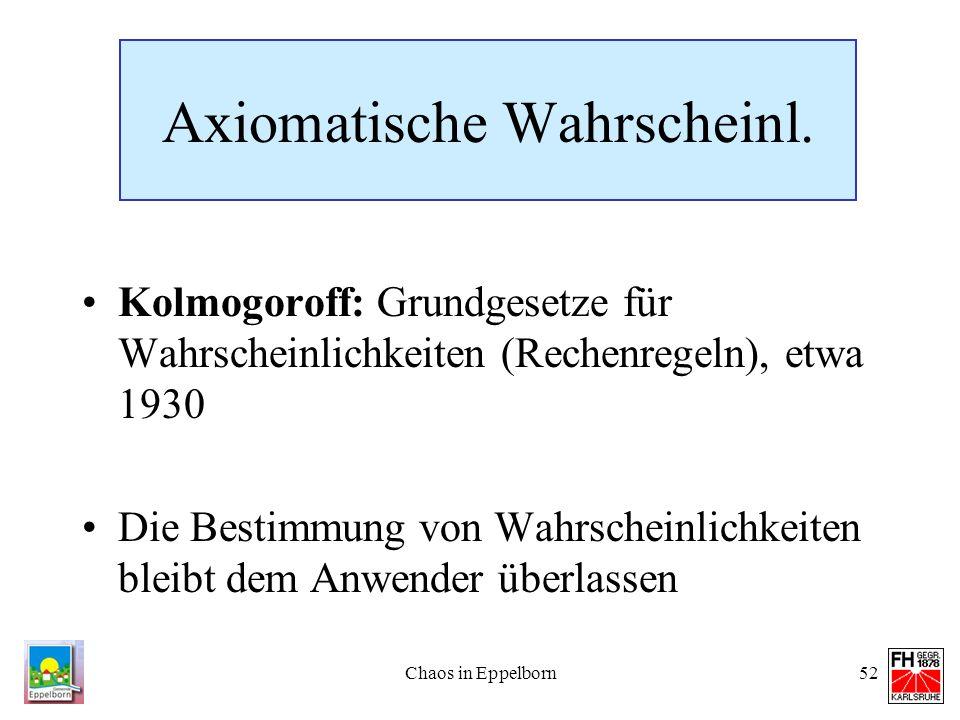 Axiomatische Wahrscheinl.