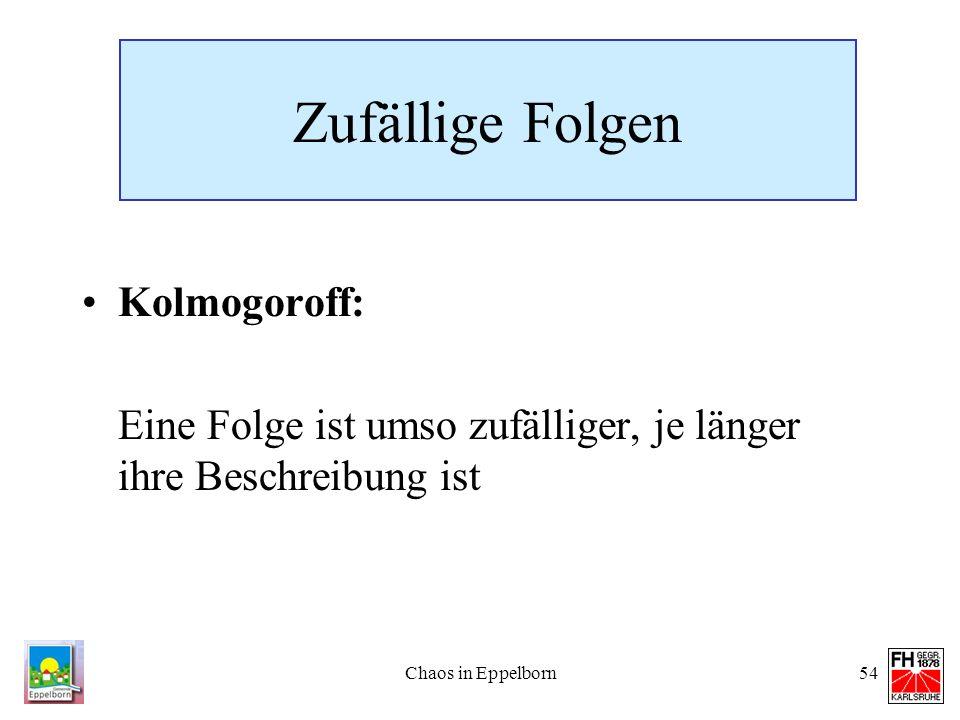Zufällige Folgen Kolmogoroff: