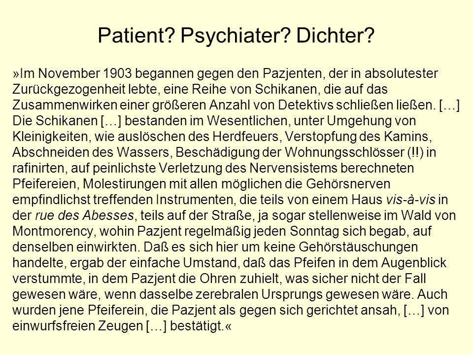Patient Psychiater Dichter
