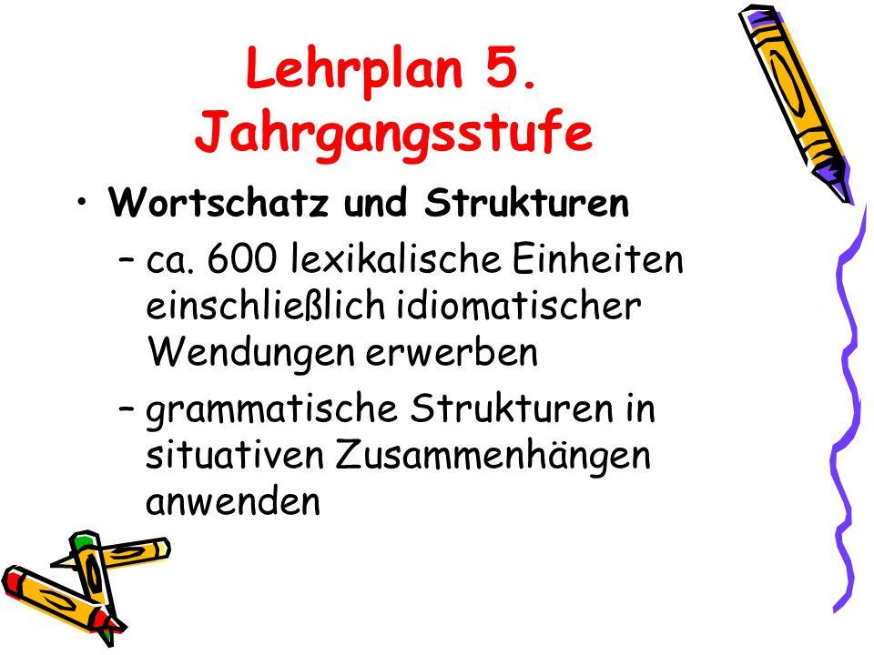 Lehrplan 5. Jahrgangsstufe