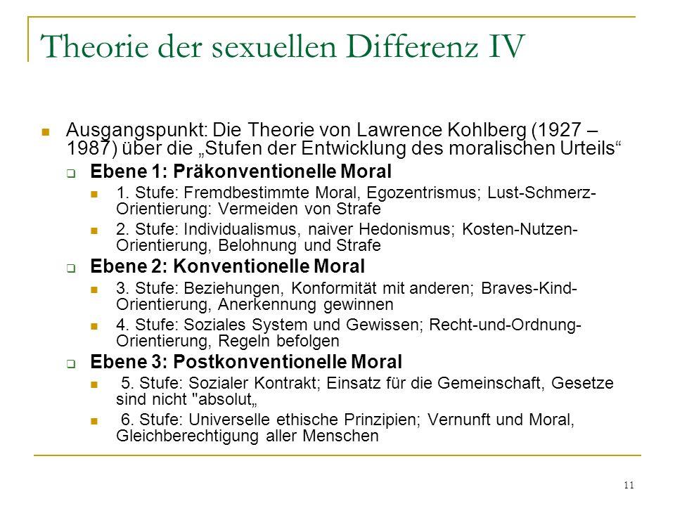 Theorie der sexuellen Differenz IV