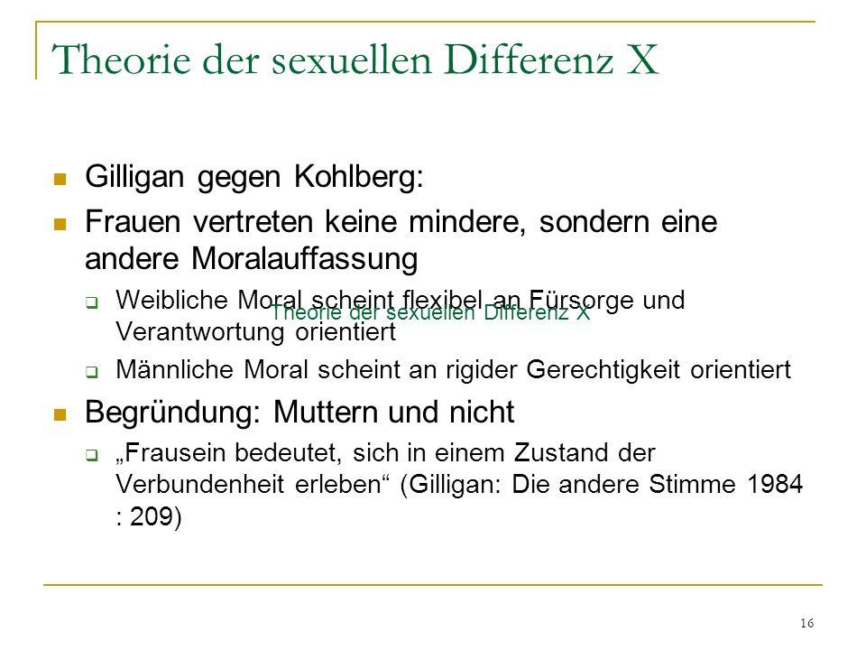 Theorie der sexuellen Differenz X