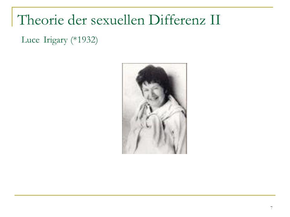 Theorie der sexuellen Differenz II Luce Irigary (*1932)