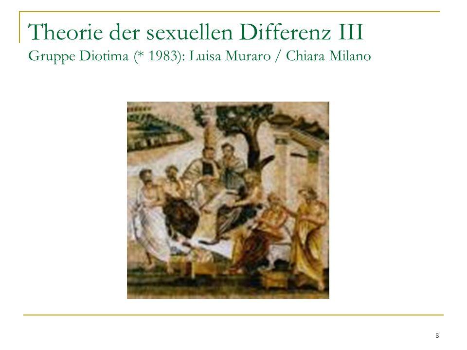 Theorie der sexuellen Differenz III Gruppe Diotima (