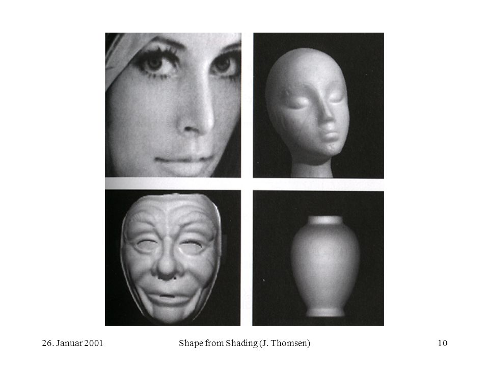 Shape from Shading (J. Thomsen)