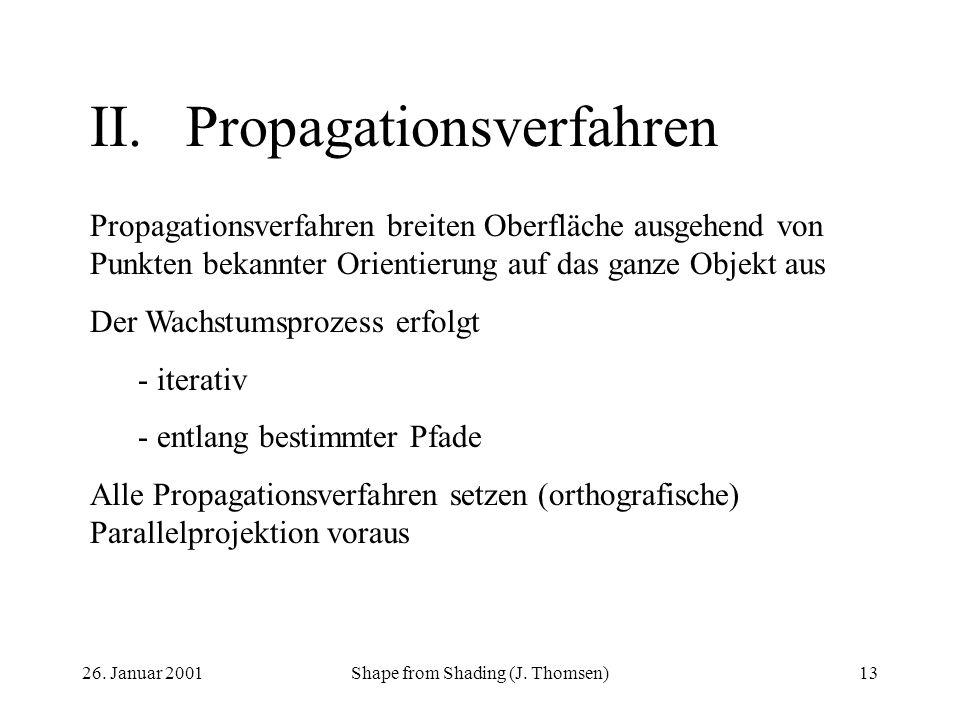 II. Propagationsverfahren