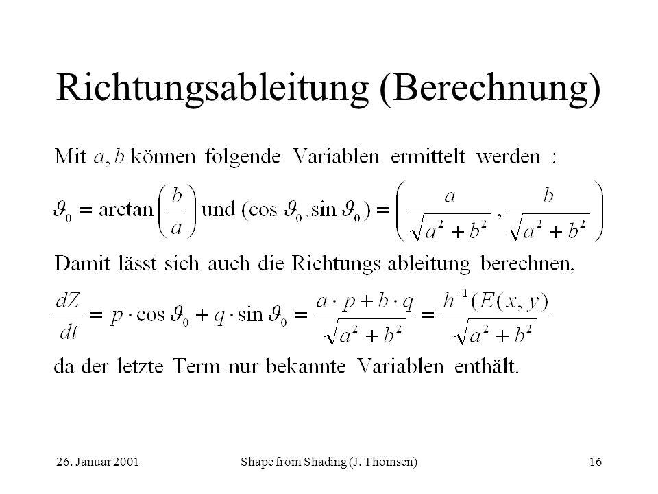 Richtungsableitung (Berechnung)