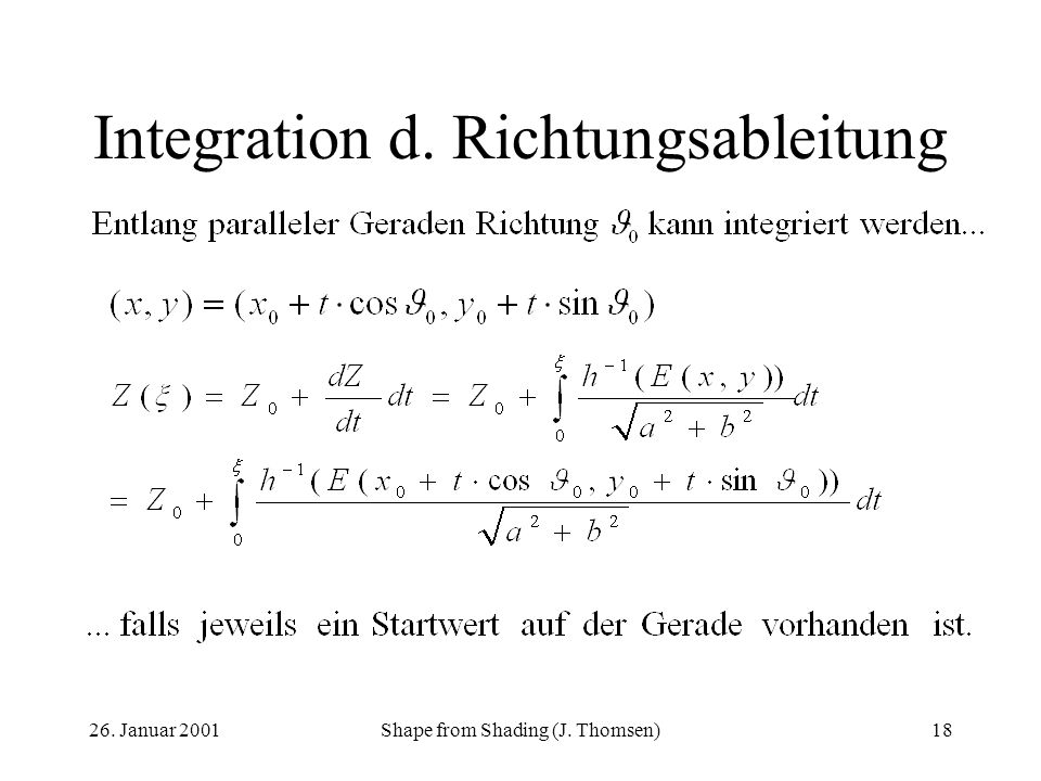 Integration d. Richtungsableitung
