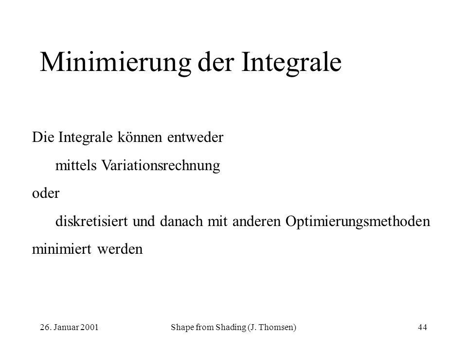 Minimierung der Integrale