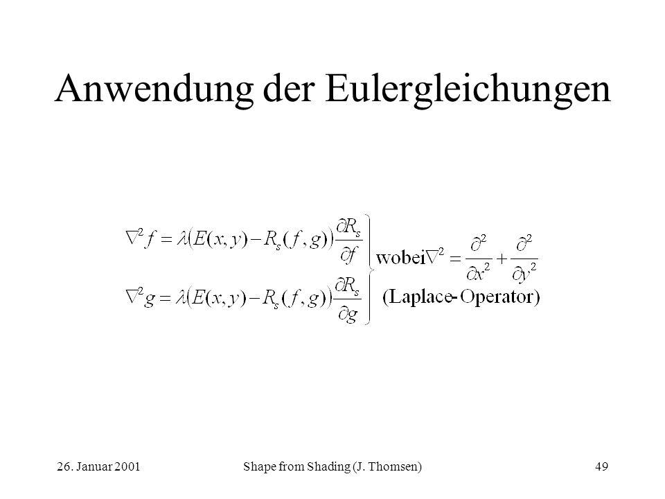 Anwendung der Eulergleichungen