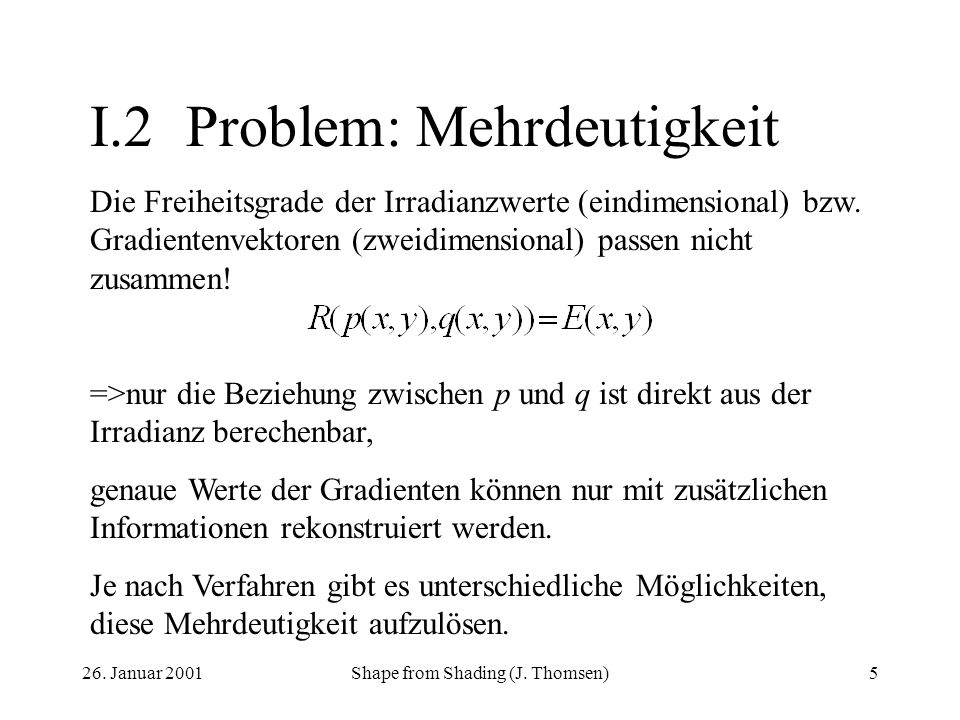 I.2 Problem: Mehrdeutigkeit