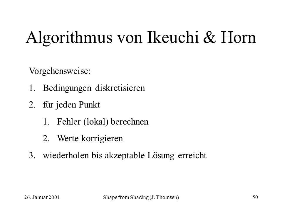 Algorithmus von Ikeuchi & Horn