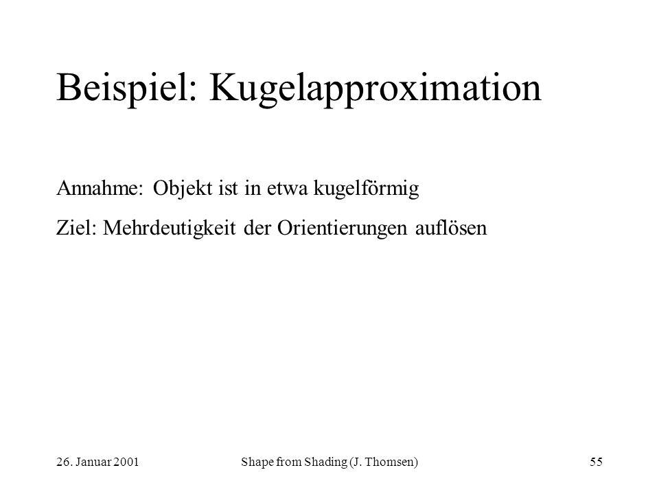 Beispiel: Kugelapproximation