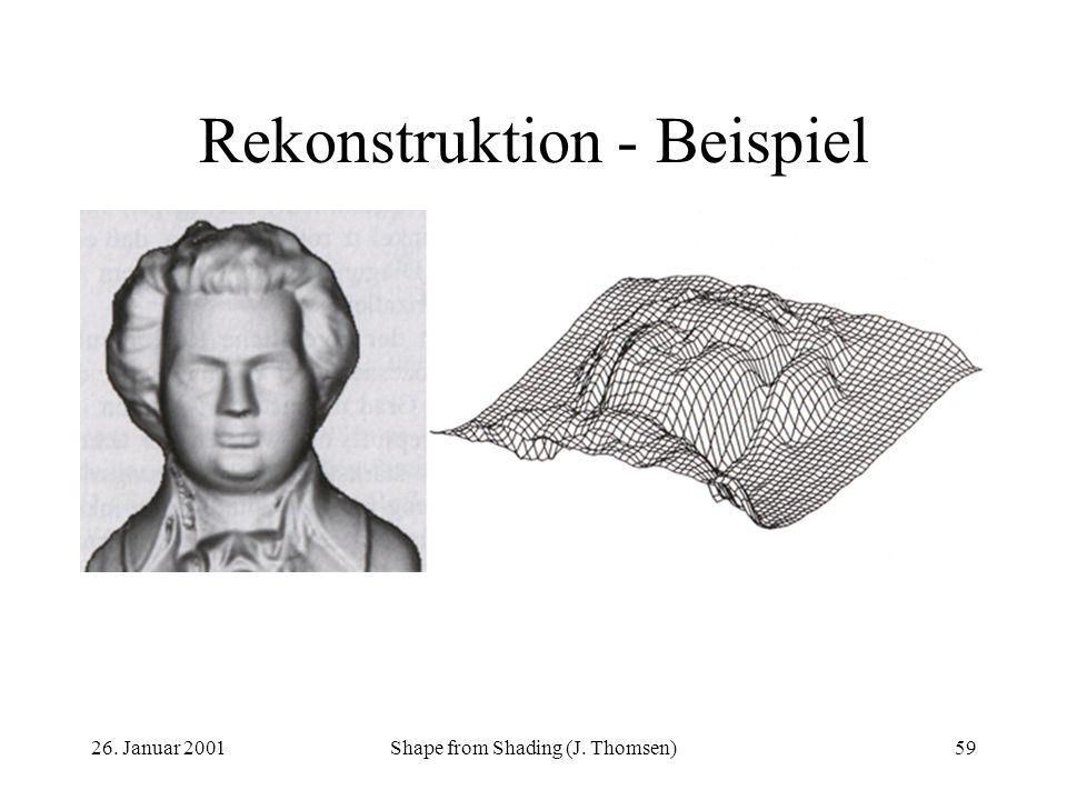Rekonstruktion - Beispiel