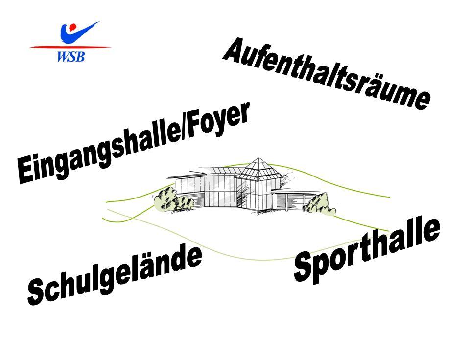 Aufenthaltsräume Eingangshalle/Foyer Sporthalle Schulgelände